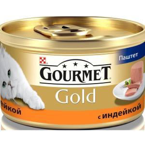 Корм для кошек Gourmet Gold, 85 г, индейка
