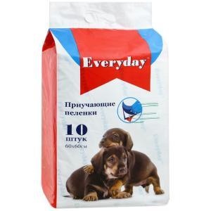 Приучающие пеленки для собак EveryDay, размер 60х60см., 10 шт.