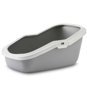 Туалет для кошек Savic Aseo, размер 56x39x27.5см., серый