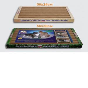 Когтеточка для кошек Стандарт, размер 56х30х3.5см.
