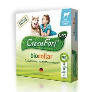 Ошейник от блох и клещей для собак крупных пород Green Fort