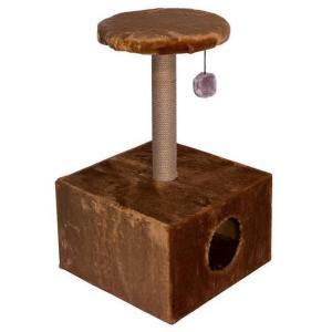 Домик-когтеточка для кошек Дарэлл, размер 43х43х76см., цвета в ассортименте
