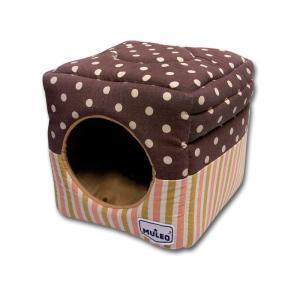 Домик для собак и кошек Katsu, размер 30х30х16см., шоколадный