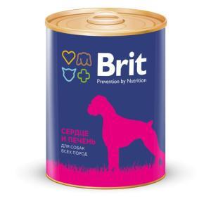 Корм для собак Brit Heart & Liver, 850 г, сердце и печень
