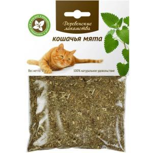 Лакомство для кошек Деревенские лакомства, кошачья мята