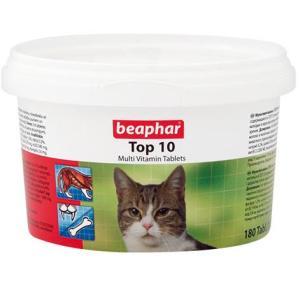 Витамины для кошек Beaphar Top 10, 180 таб.