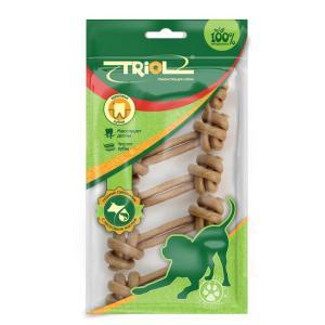 Лакомства для собак Triol, 11 г, сыромятная кожа, 5 шт.