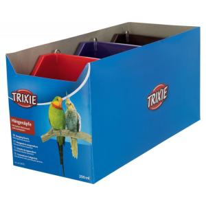 Кормушка для птиц Trixie Hanging Bowls, 200 мл, размер 11×9см., цвета в ассортименте