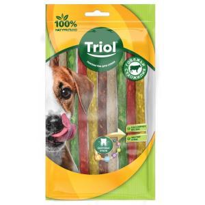 Лакомство для собак Triol, 10 г, сыромятная кожа, 10 шт.