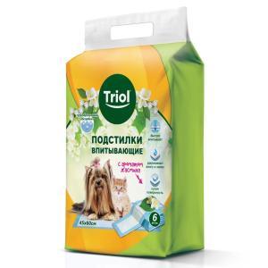 Пеленки для собак и кошек Triol Aroma, размер 45x60см., 6