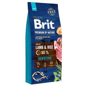 Корм для собак Brit Premium By Nature Sensitive, 15 кг, ягненок с рисом