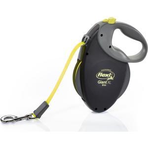Поводок-рулетка для собак Flexi Giant Neon  XL, черный-неон