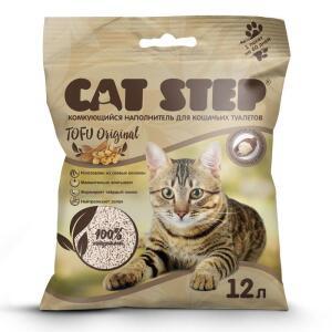 Наполнитель для кошачьих туалетов Cat Step Tofu Original, 5.45 кг, 12 л