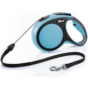 Поводок-рулетка для собак Flexi New Comfort M Cord, синий