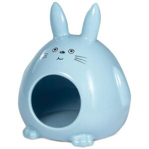 Домик для грызунов керамический Triol Кролик, размер 13х11.5х14.5см.