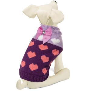Свитер для собак Triol Сердечки XS, размер 20см.