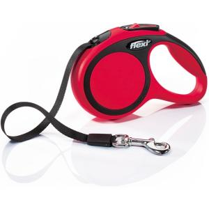 Поводок-рулетка для собак Flexi New Comfort XS Tape, красный