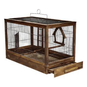 Клетка для птиц Дарэлл Ретро Кантри, размер 56х30х35см., палисандр