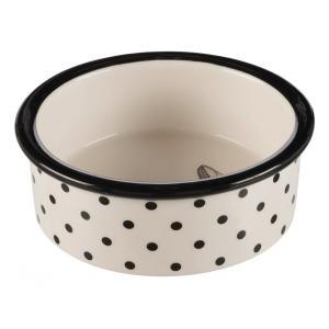 Миска для кошек Trixie Zentangle, размер 12см., белый / черный