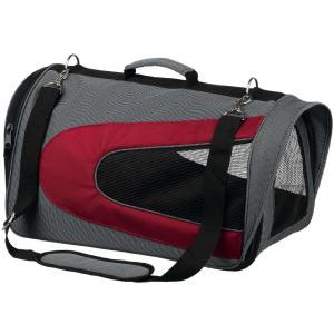 Сумка переноска для собак и кошек Trixie Alina, размер 27х27х52см., серый / красный