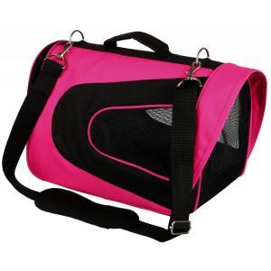 Сумка переноска для собак и кошек Trixie Alina, размер 22х23х35см., розовый / черный