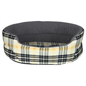 Лежак для собак и кошек Trixie Lucky M, размер 75х65см., бежевый / серый