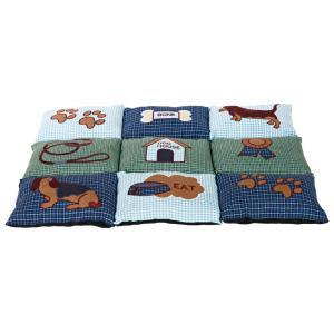 Лежак для собак Trixie Patchwork, размер 80х55см., синий / зеленый