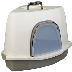 Туалет-домик для кошек Trixie Alvaro, размер 55×42×42см., крем / серо-коричневый