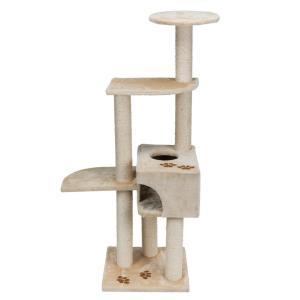Домик-когтеточка для кошек Trixie Alicante, размер 45х45х142см., бежевый