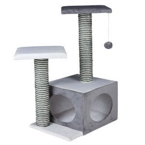 Домик-когтеточка для кошек Trixie Neo, размер 44х33х71см., кремовый / серый