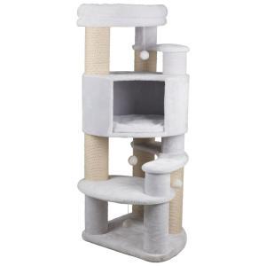 Домик-когтеточка для кошек Trixie Zita, размер 64х64х147см., белый