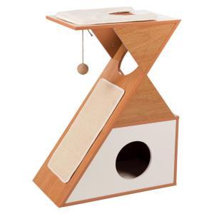 Домик для кошек Trixie Leona, размер 53х30х70см., коричневый / белый