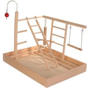 Площадка для попугая Trixie Wooden Playground, размер 34x26x25см.