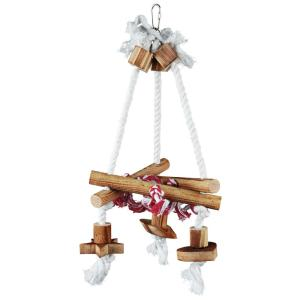 Качели для птиц Trixie Swing on Rope, размер 18х38x1см.