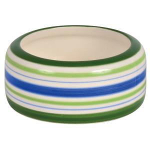 Миска для грызунов Trixie Ceramic Bowl S, 50 мл, размер 8см., зелёный / синий / кремовый