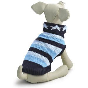 Свитер для собак Triol Звезды S, размер 25см., сине-голубой