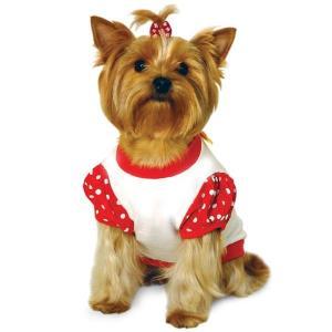 Футболка для собак Triol Minnie XS, размер 19см., красный с белым