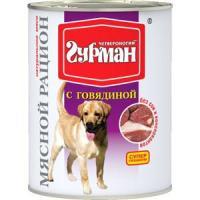 Фотография товара Корм для собак Четвероногий гурман мясной рацион, 850 г, говядина