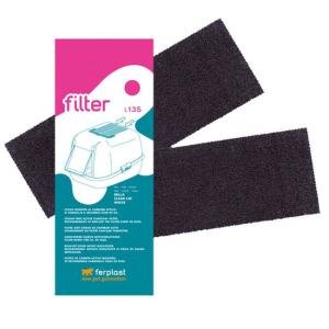 Фильтр для кошачьего туалета Ferplast L135, размер 20х7х0.2см., 2 шт.