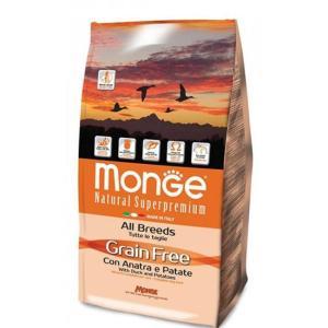 Корм для собак Monge All Breeds Grain Free, 2.5 кг, утка с картофелем