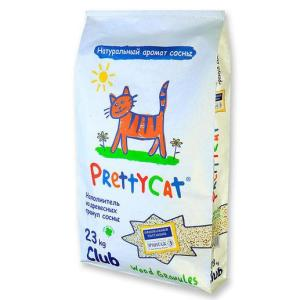 Наполнитель для кошачьего туалета Pretty Cat Wood Granules, 23 кг