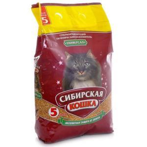 Наполнитель для кошачьего туалета Сибирская кошка Универсал, 2.7 кг, 5 л