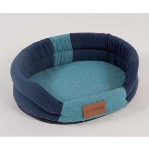 Лежак для собак Katsu Animal XL, размер 88х72х19см., синий/голубой
