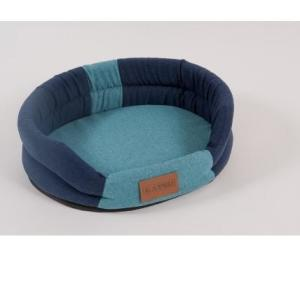 Лежак для собак Katsu Animal S, размер 65х54см., синий/голубой