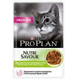 Корм для кошек Pro Plan Nutrisavour Delicate, 85 г, ягненок