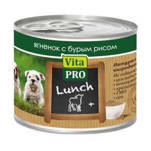 Корм для щенков Vita Pro LUNCH, 200 г, ягненок, бурый рис