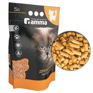 Наполнитель для кошачьего туалета Гамма Крупные гранулы, 3 кг, 5 л