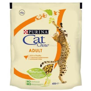 Корм для кошек Purina Cat Chow Adult, 400 г, домашняя птица