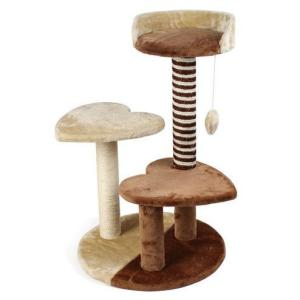 Игровой комплекс для кошек Triol CT-23, размер 48x48x76.5см., беж/коричневая