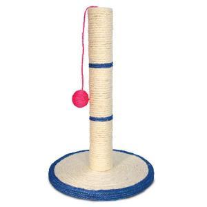 Когтеточка для кошек Triol Столбик с шариком , размер 46x30см.